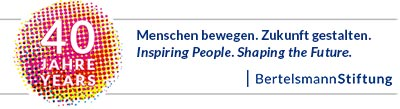 Logo SIM 40 Jahre BertelsmannStiftung